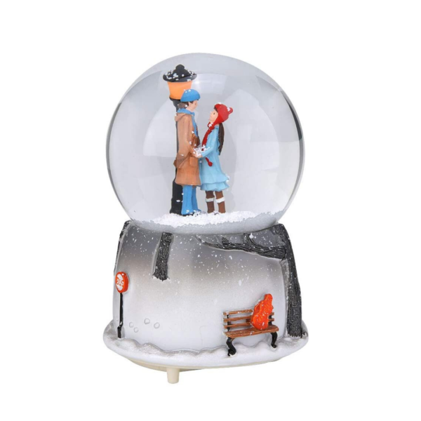 Couple in a Glass Snow Globe