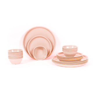 24 Piece Baige Dinner Set