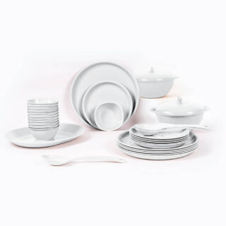32 Piece Round Dinner Set White