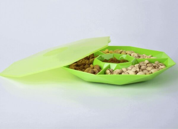 Chip n Dip with Lid Green