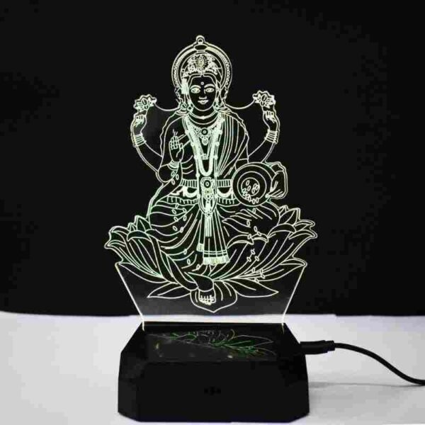 Laxmi 3D Illusion Night Lamp