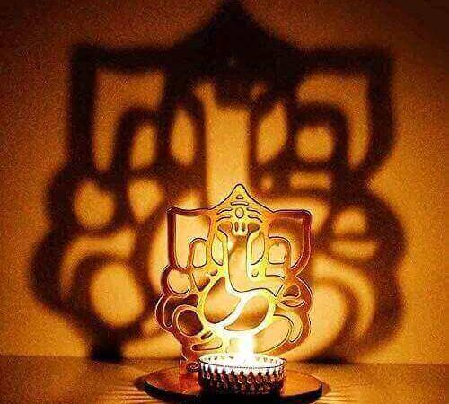 Ganesh Metal Tealight Holder