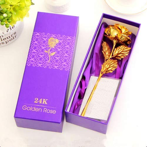 24K Gold Foil Artificial Rose Flower